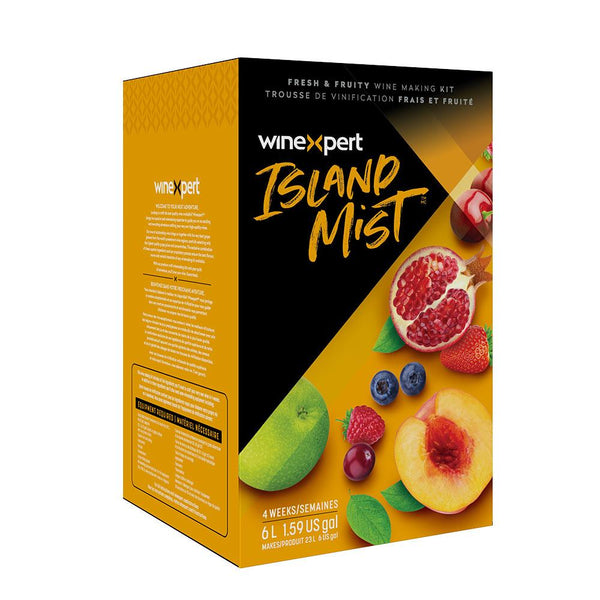Raspberry Peach Sangria Wine Kit box by Winexpert Island Mist