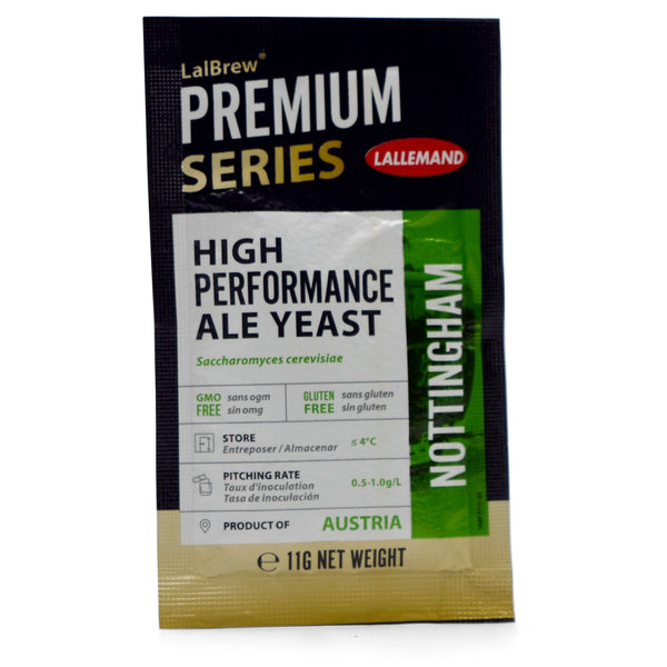 LalBrew® Nottingham English Ale Dry Yeast Front of package