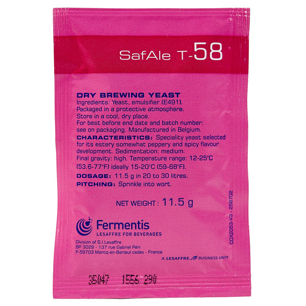 SafAle T-58 Ale Dry Yeast sachet