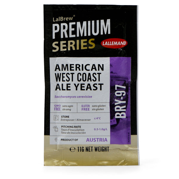 LalBrew BRY-97 American West Coast Ale Dry Yeast in a sachet