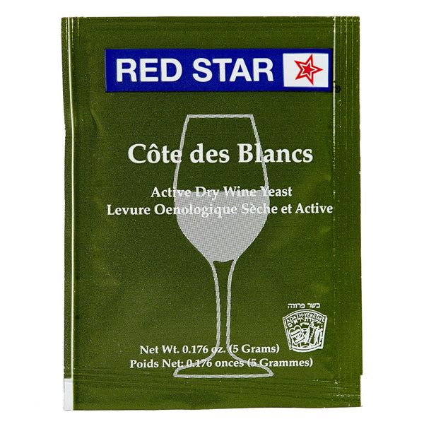 red star cote des blancs yeast sachet