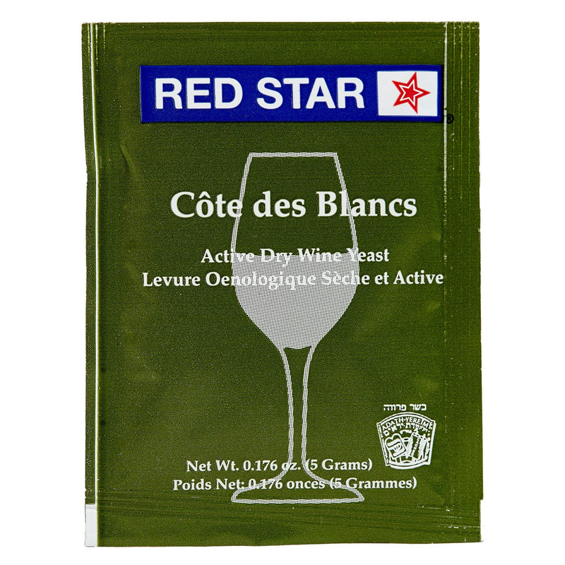 red star cote des blancs yeast front