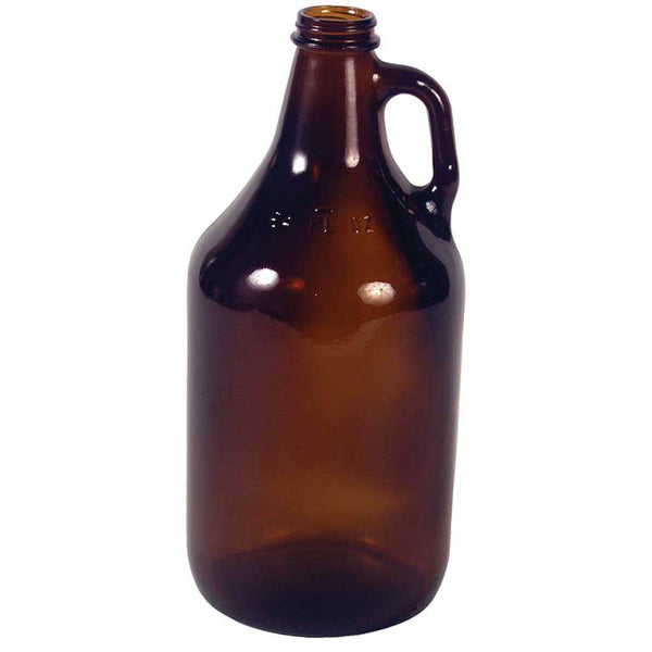 Half-Gallon Amber Glass Jug
