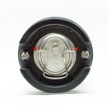 Top-view of the 5-Gallon Ball Lock Keg