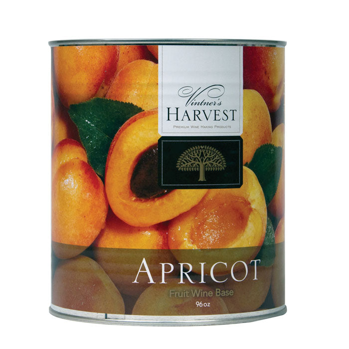 96-ounce can of Apricot fruit wine base by Vintner's Harvest Fruit Bases