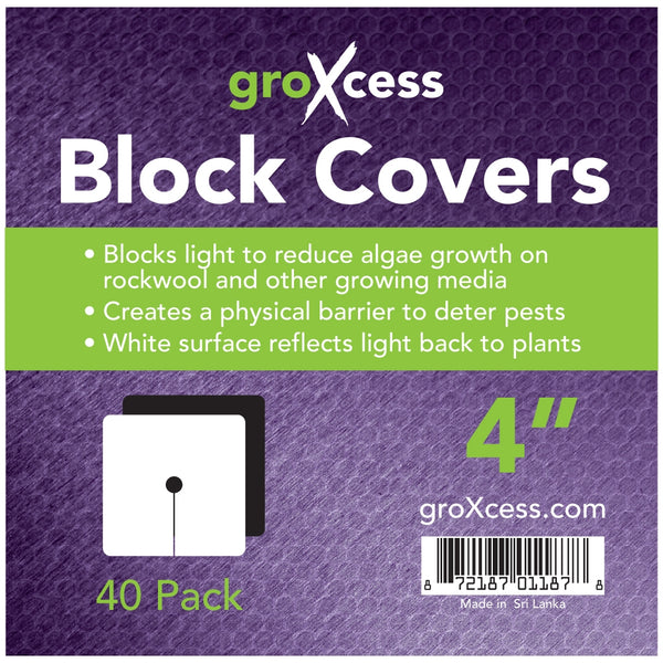 "Square Block Covers 4"" 40 Pack"
