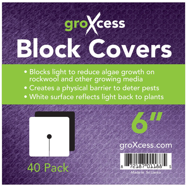 "Square Block Covers 6"" 40 Pack"