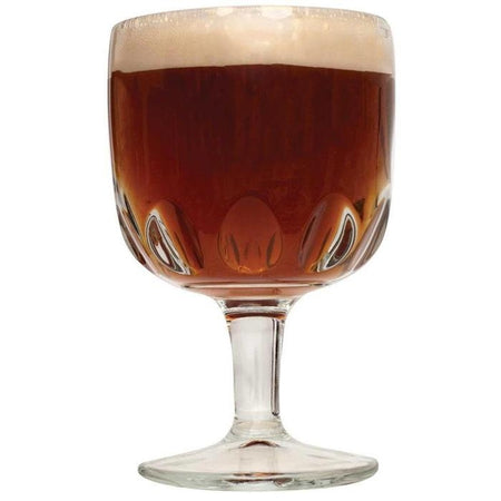 Belgian Dubbel homebrew in a Goblet