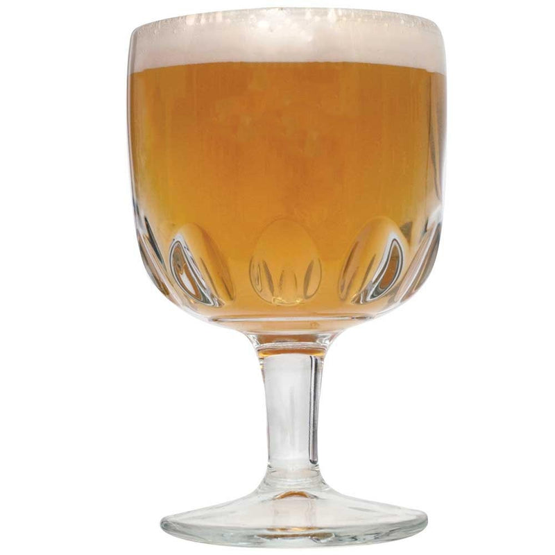 Belgian Tripel homebrew in a Goblet