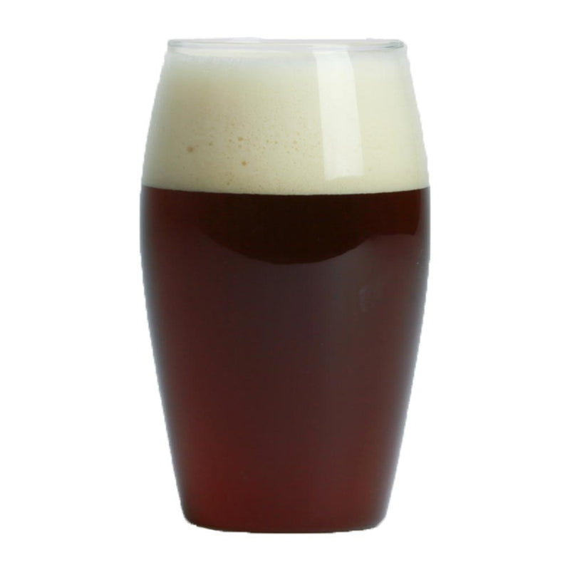 Glass filled with Elegant Bastard American Strong Ale homebrew