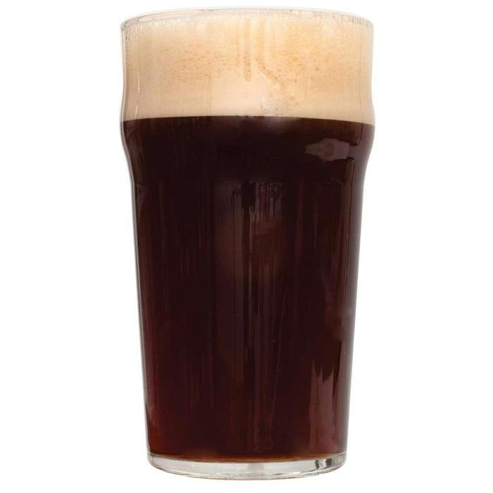 Black Magic Dark Mild homebrew in a Pint glass