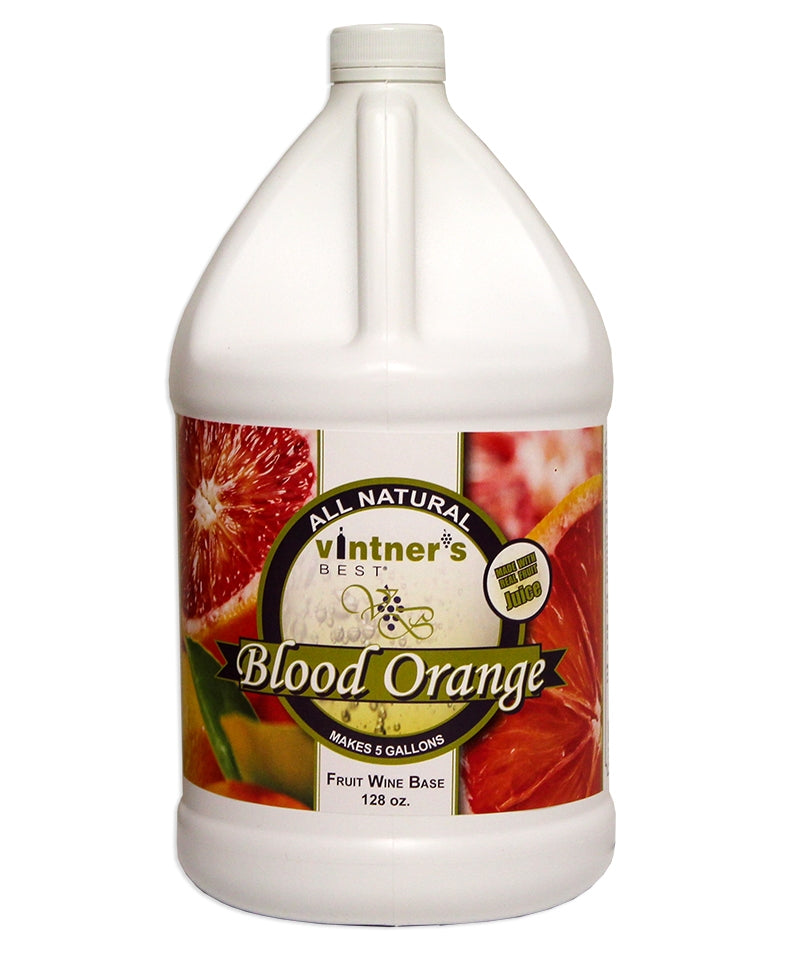 128-ounce jug of Vintner's Best Blood Orange Fruit Wine Base