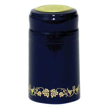 Blue with Gold Grapes PVC Capsule