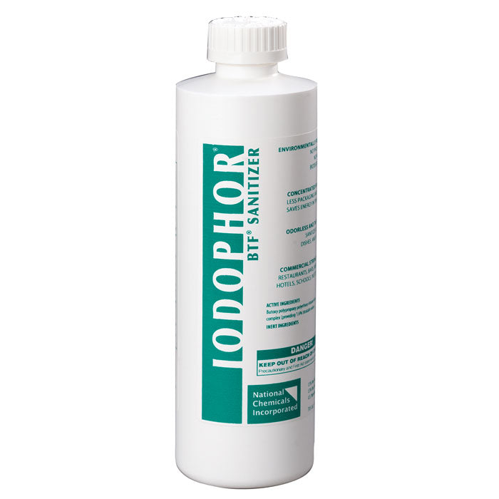 BTF Iodophor Sanitizer in a 16-ounce container