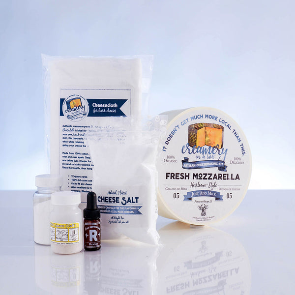 Mozzarella Cheese Recipe Kit - Creamery in a Box®