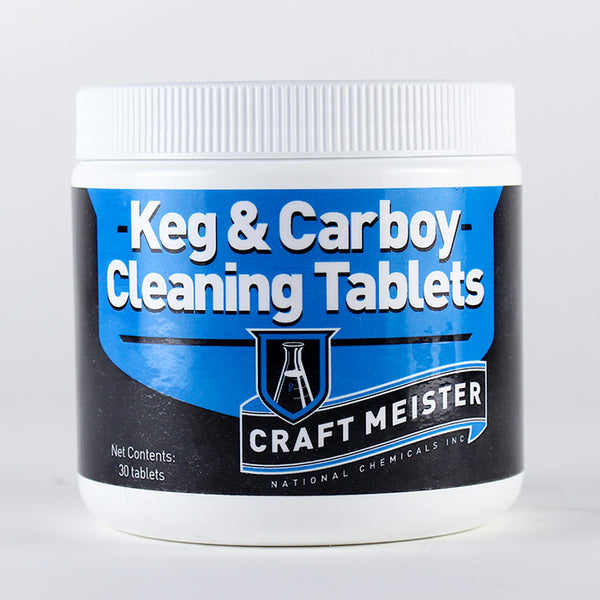 Craft Meister Keg & Carboy Cleaning Tablets in their container