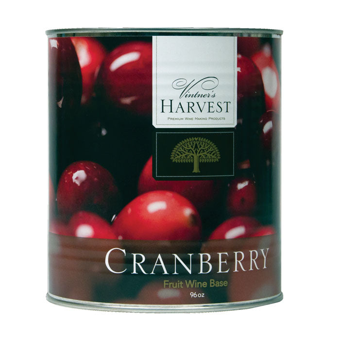 96-ounce can of Cranberry fruit wine base by Vintner's Harvest