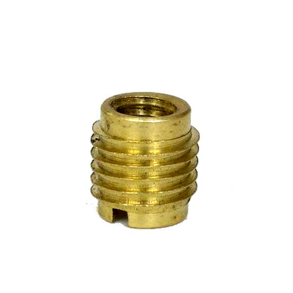 Brass Dual-Threaded Insert for Wooden Tap Handles