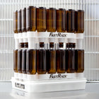 Two FastRack Beer Bottle Drying & Storage Systems stacked on each other with beers drying
