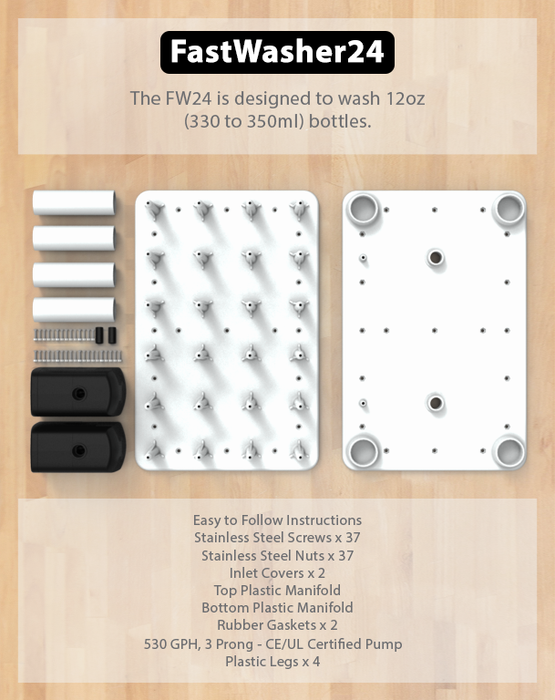 FastWasher24 Bottle Washer Info