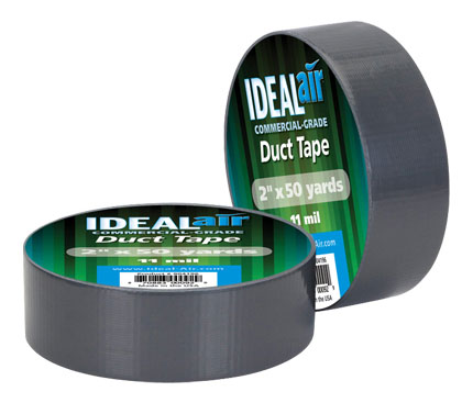 Two spools of duct tape in their packaging