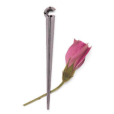 4-inch tubing support stake with a cut rose