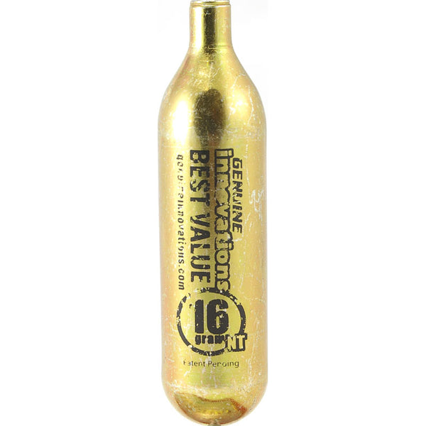 16 gram gold-colored non-threaded CO2 cartridge