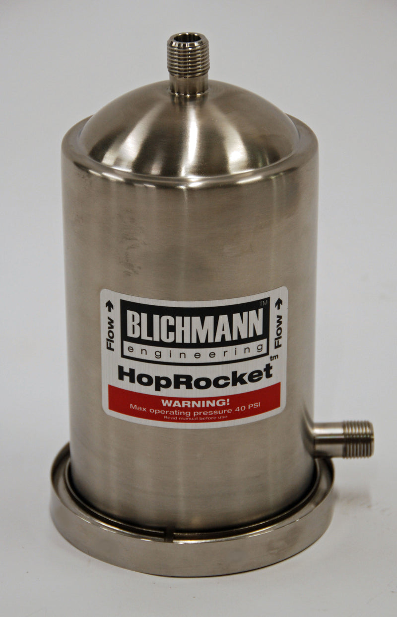 The Blichmann HopRocket In-line Hop Infuser