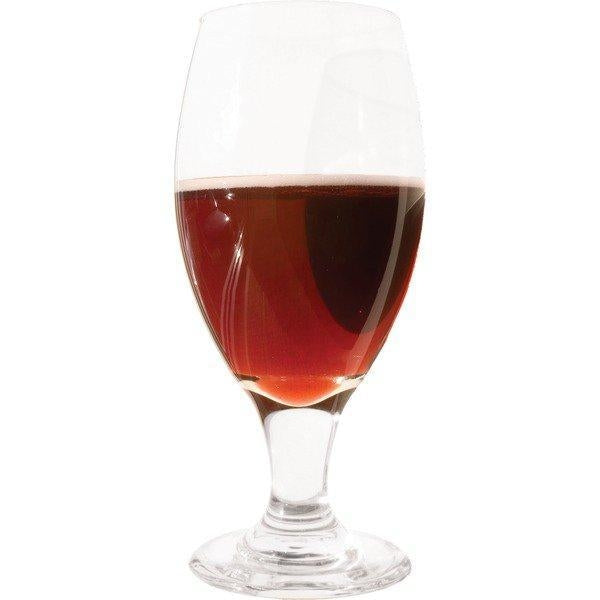A glass filled with raspberry melomel