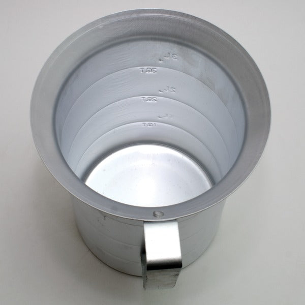Interior view of the Aluminum Measuring Pitcher