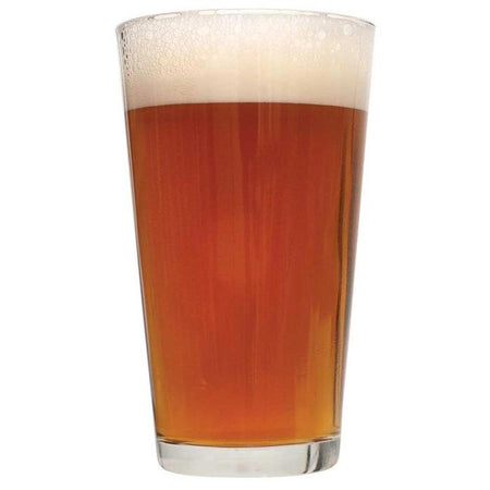 Irish Red homebrew in a drinking glass