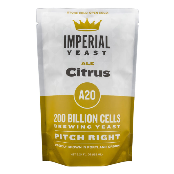 Imperial Yeast A20 Citrus in its pouch