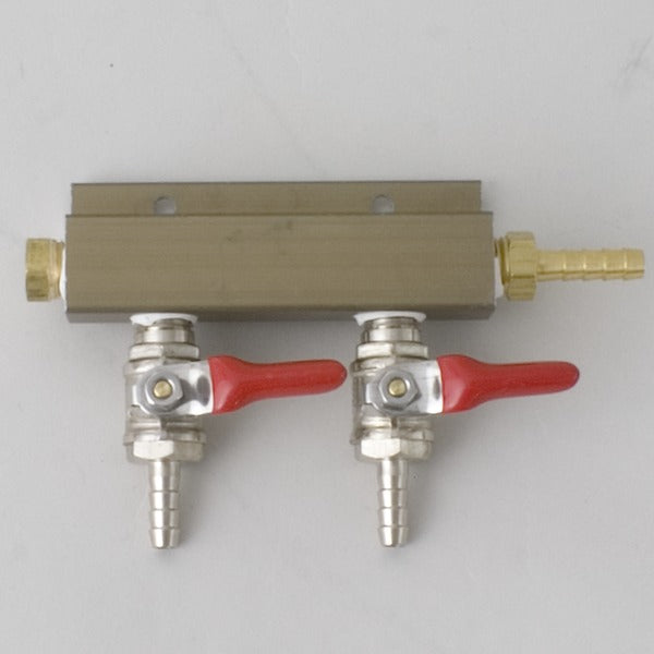 2 Way CO2 Distributor, 1/4""