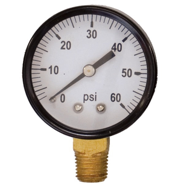 Regulator Gauge.  0-60 PSI Gauge Right Side