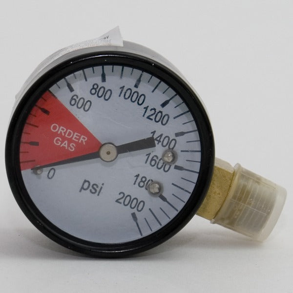 Regulator Gauge. 0-2000 PSI Gauge Left Thread