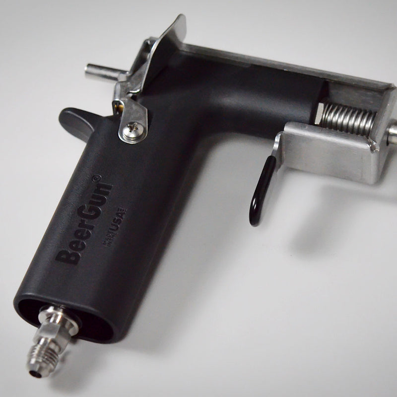 Close-up of the beergun Handle