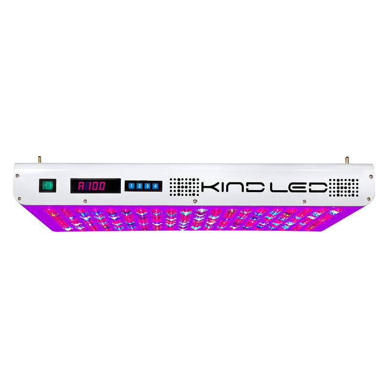 The information panel side of the indorr LED grow light