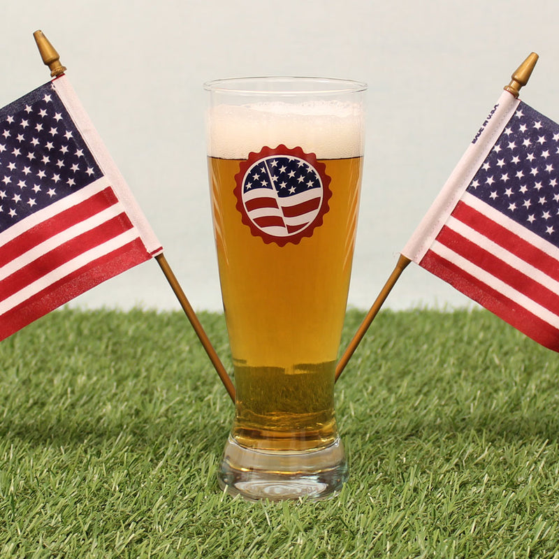 Liberty & Homebrew for All Patriotic Pilsner Glass