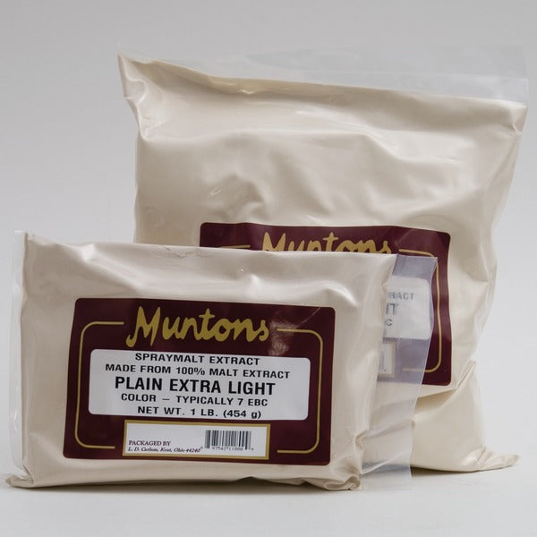 1-pound and 3-pound bags of Munton & Fison (UK) Extra light DME