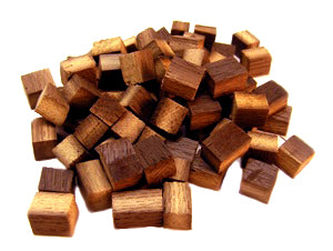 Bordeaux Oak Blend cubes in a pile