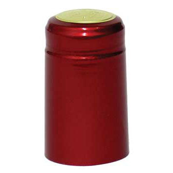 Metallic Ruby Red PVC Capsules - 62 ct.