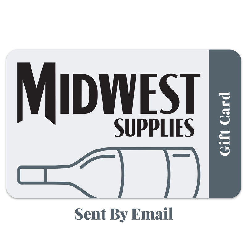 "The midwest supplies gift card with ""Sent by Email"" written beneath it"