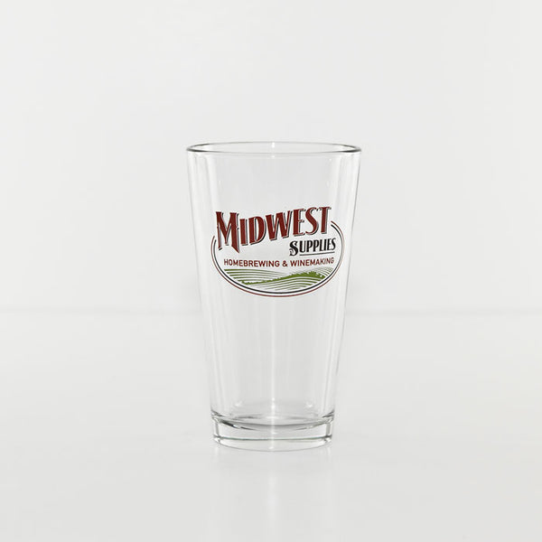 Midwest Supplies Logo Pint Glass