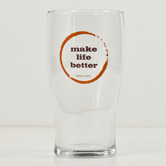 Make Life Better Pint Glass w/ Nucleation Point