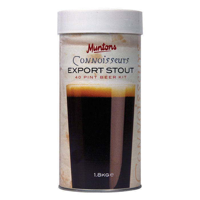 munton's export stout hopped malt extract can
