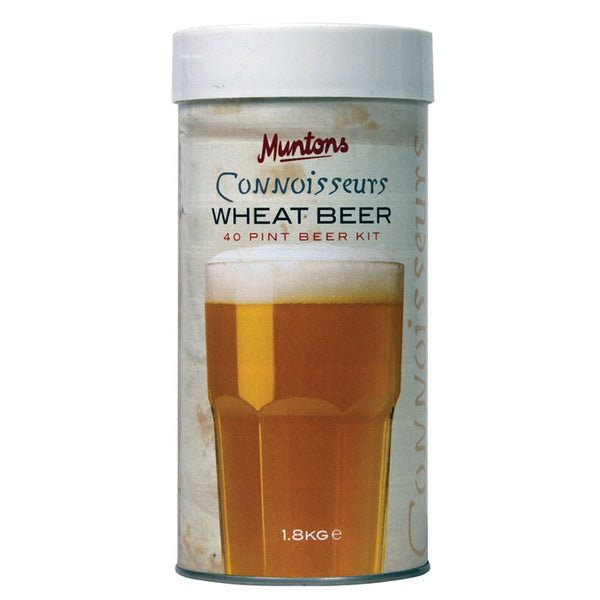 munton's wheat beer hopped malt extract can