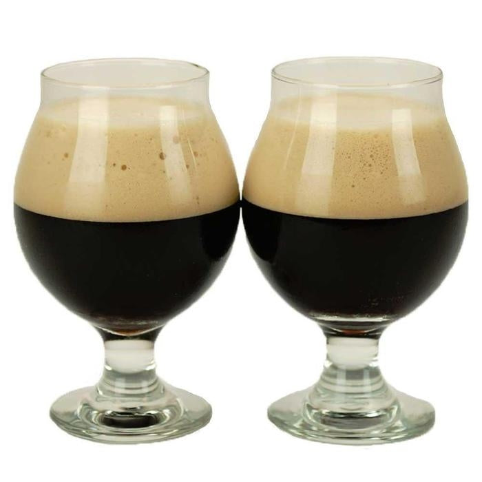 The Mutt's Nuts Brown Porter in two glasses