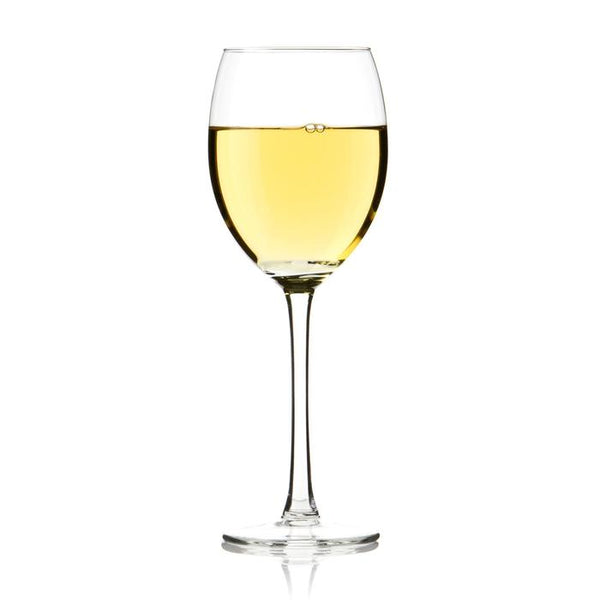 California Riesling in a wine glass