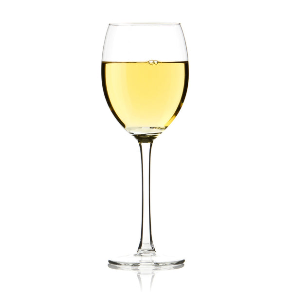 Chilean Viognier in a wine glass