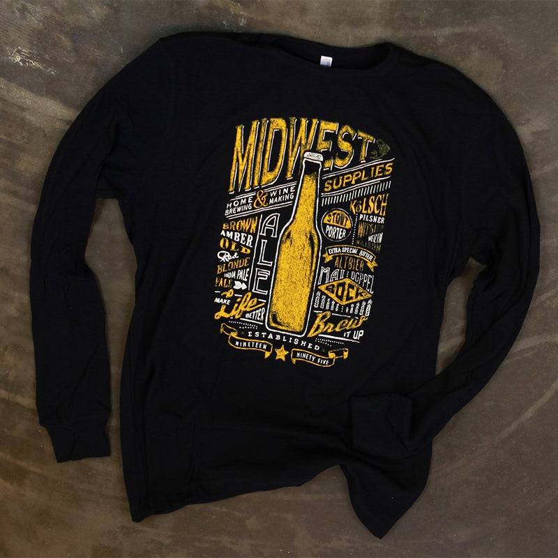 Midwest Supplies Chalkboard Beer Styles Thermal Shirt